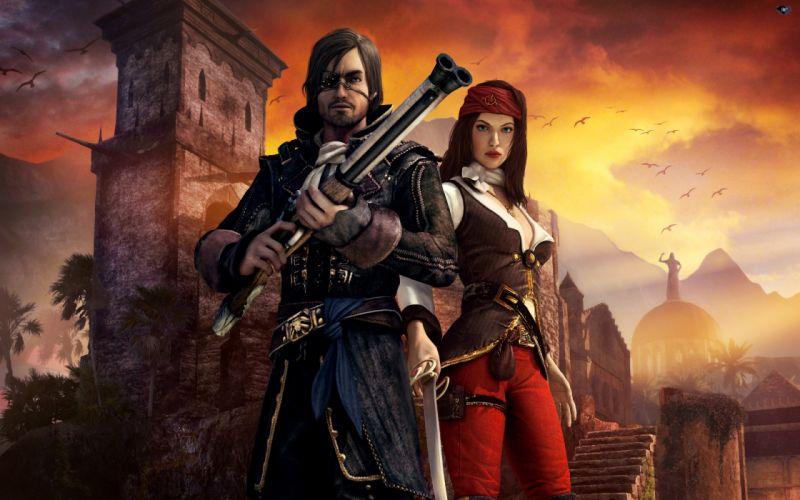 video games dark Risen 2 waters wallpaper