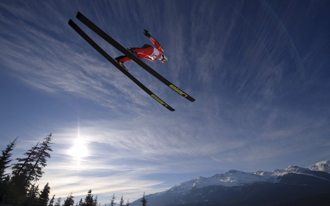 nature winter sports skiing sky-games wallpaper