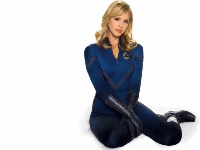 brunettes women Jessica Alba Fantastic Four wallpaper