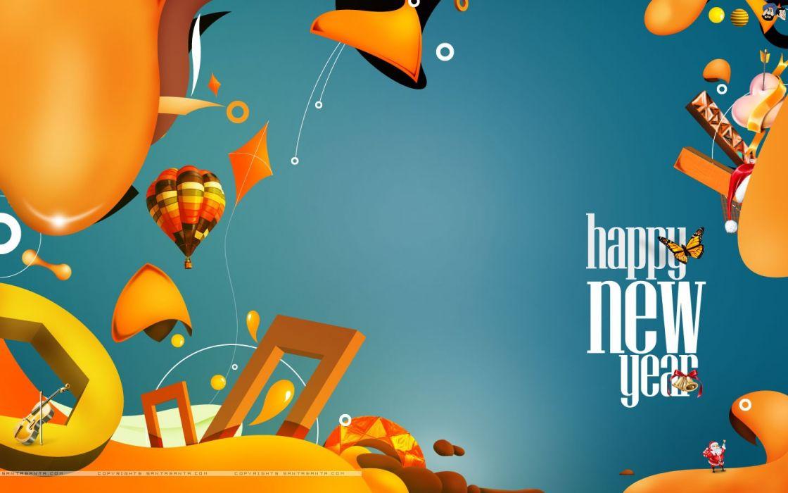 New Year Greetings Card wallpaper