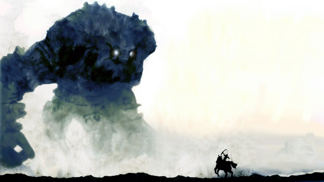 video games Shadow of the Colossus video game art wallpaper