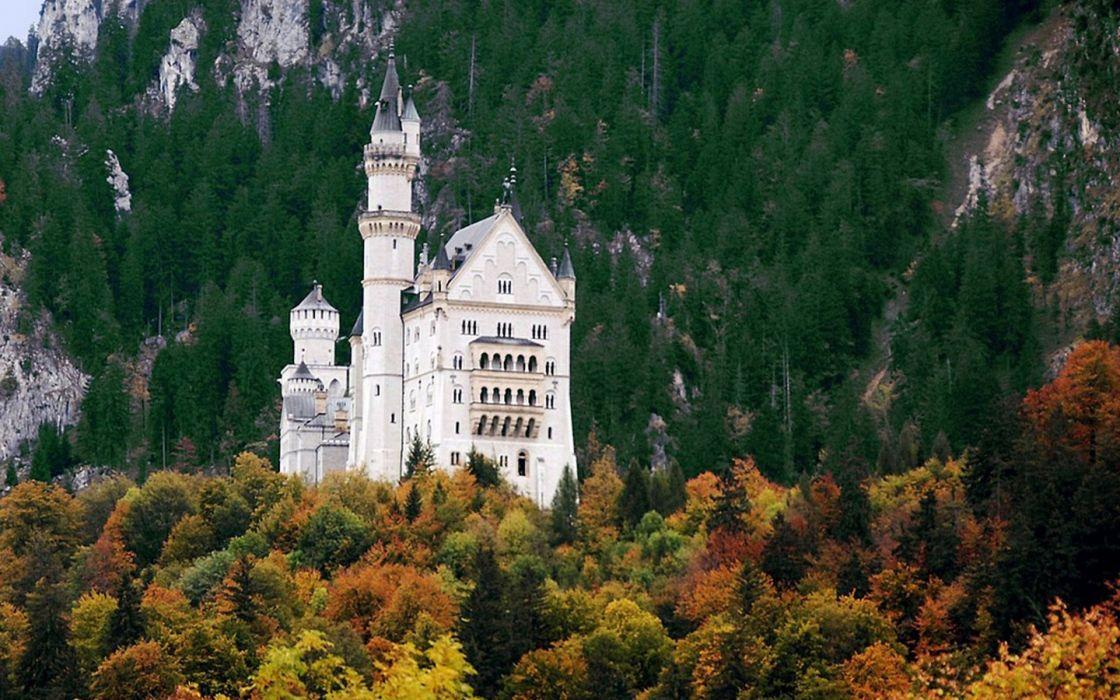 mountains nature castles buildings wallpaper