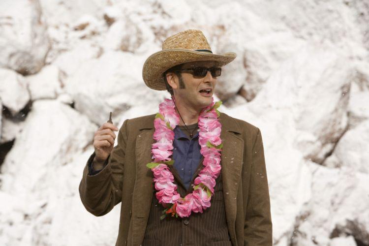 TARDIS David Tennant Hawaii sunglasses the end Doctor Who hats keys Tenth Doctor wallpaper