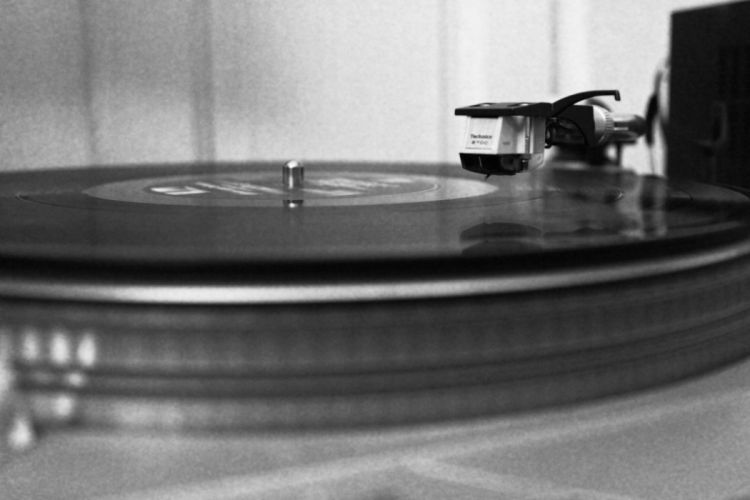 music vinyl grayscale disc wallpaper