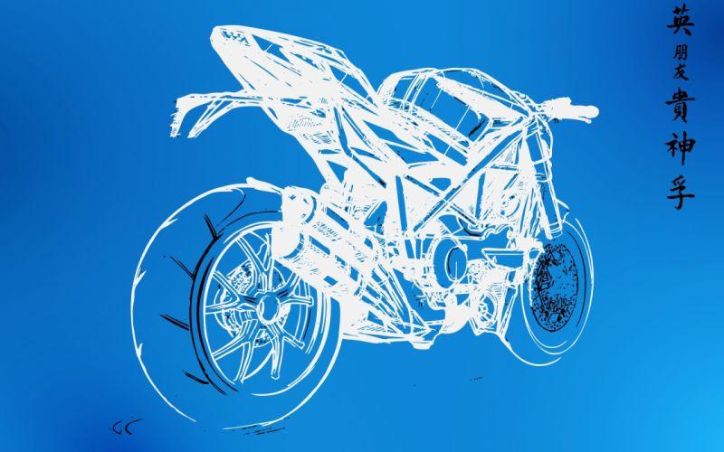 wall sketches motorbikes graphic blueprint wallpaper