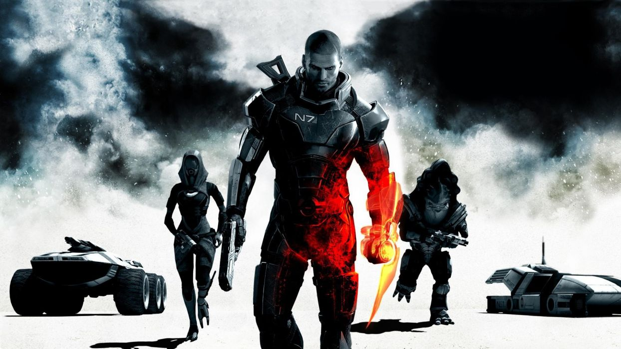 Mass Effect 3 Commander Shepard games M35 Mako Wrex Tali Zorah nar Rayya wallpaper