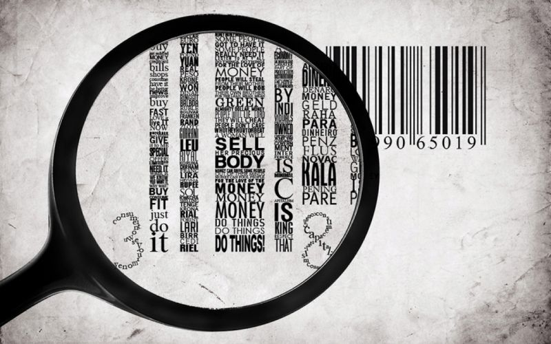 typography numbers barcode facts magnifying glass wallpaper