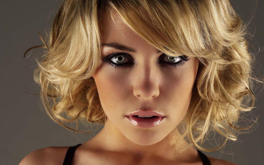 blondes women models Abigail Clancy faces wallpaper