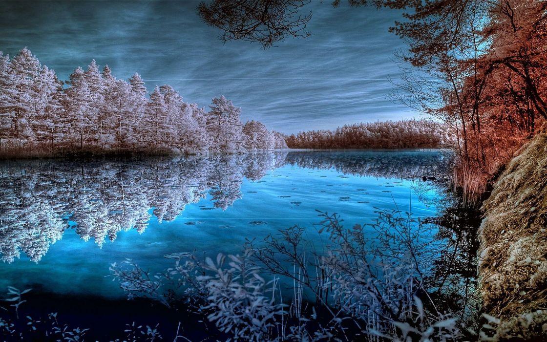 ice lakes wallpaper
