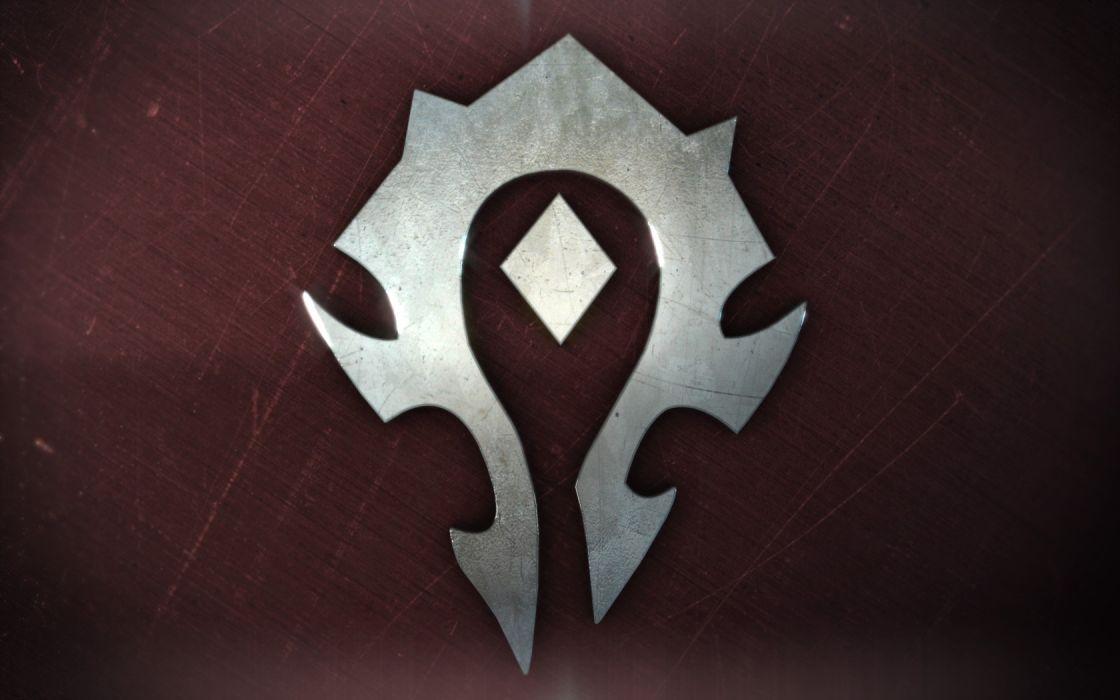 World of Warcraft symbol horde wallpaper