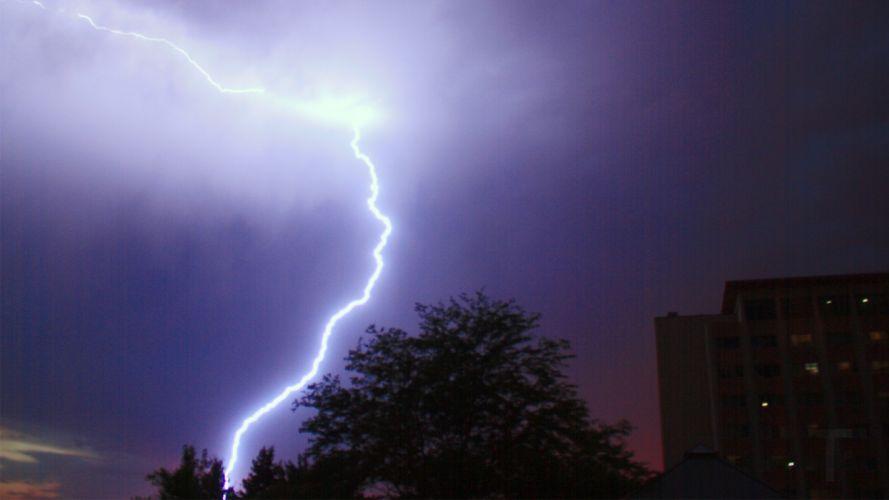 night lightning wallpaper