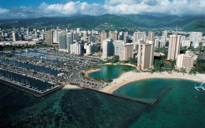 beach cityscapes wallpaper