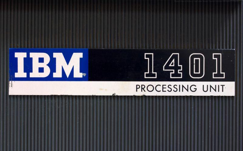 computers history IBM Marcin Wichary IBM 1401 wallpaper