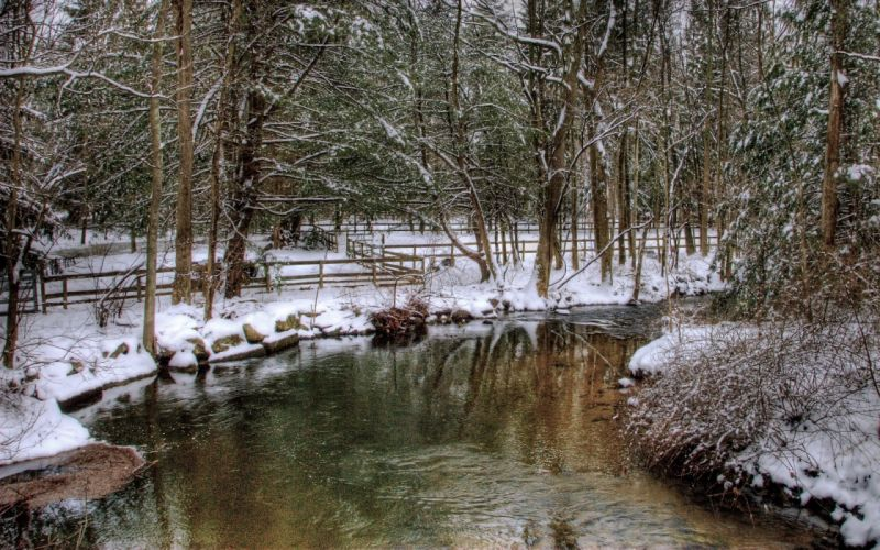 nature winter HDR photography wallpaper