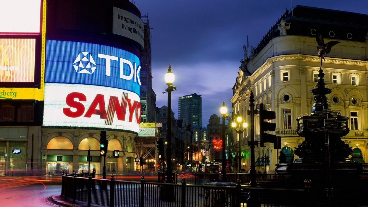 England London circus Picadilly Square wallpaper