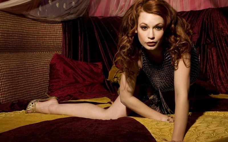 women redheads Justine Joli wallpaper