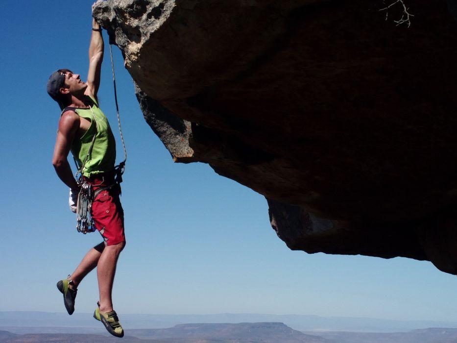 Nature Rock Climbing Wallpaper