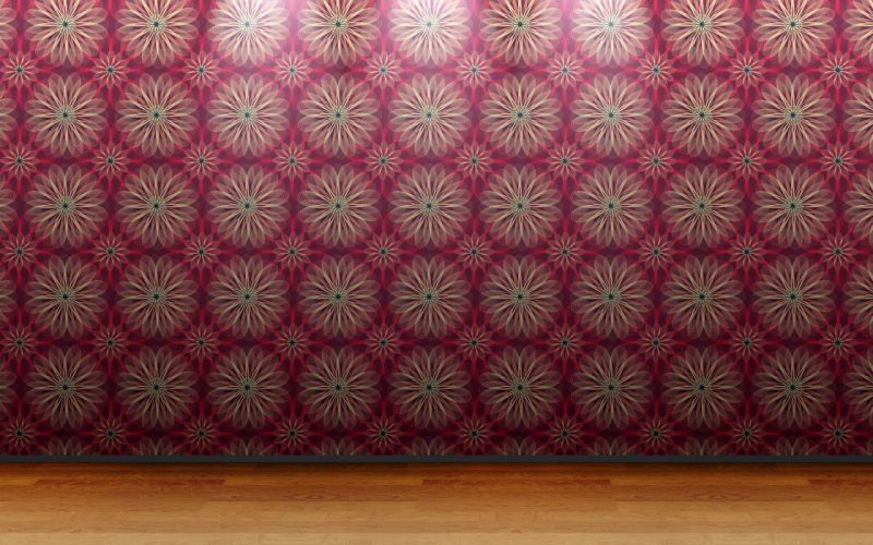 floor 3D view wall room patterns wallpaper