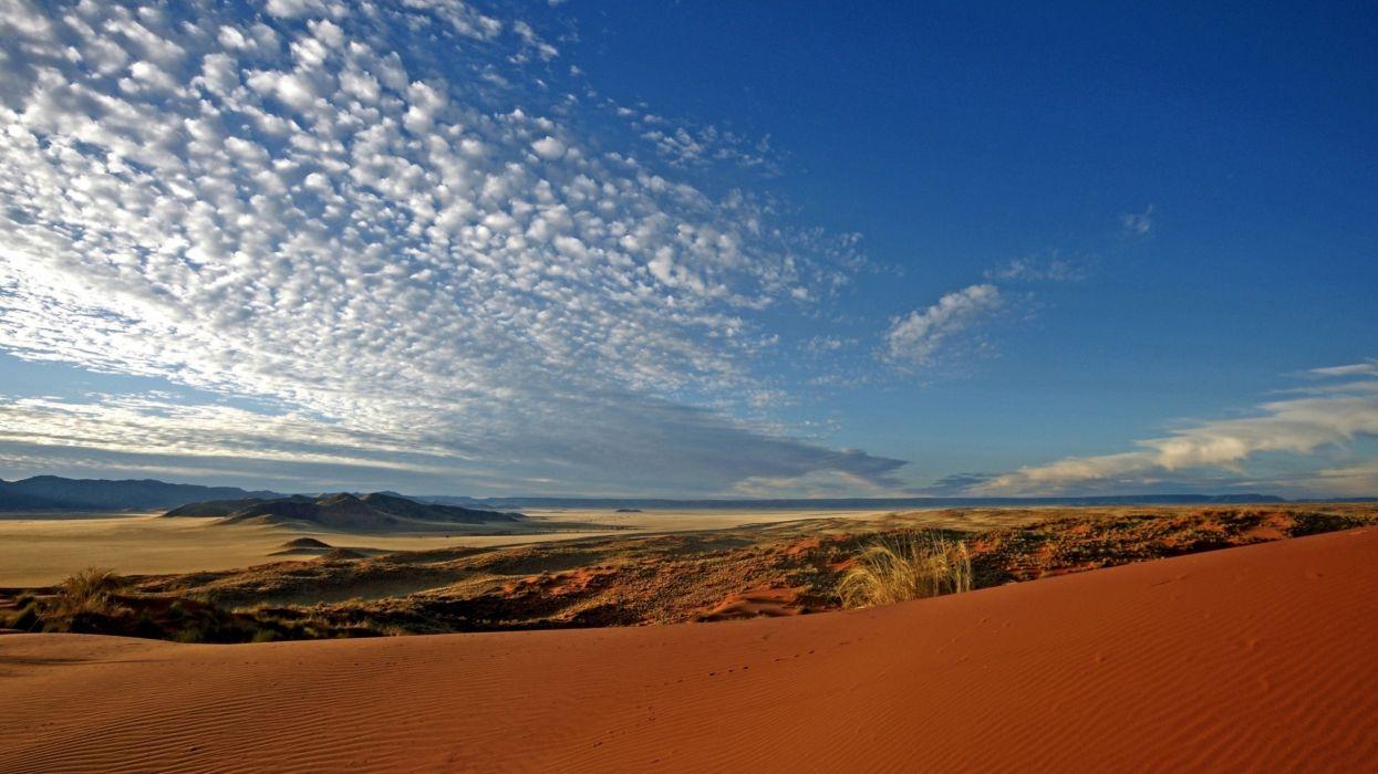 clouds landscapes nature sand desert wallpaper