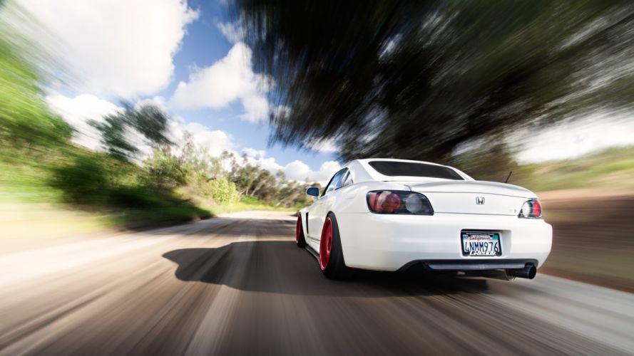 cars roads Honda S2000 white cars stance wallpaper