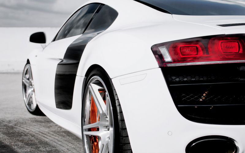 cars Audi Audi R8 races taillights wallpaper