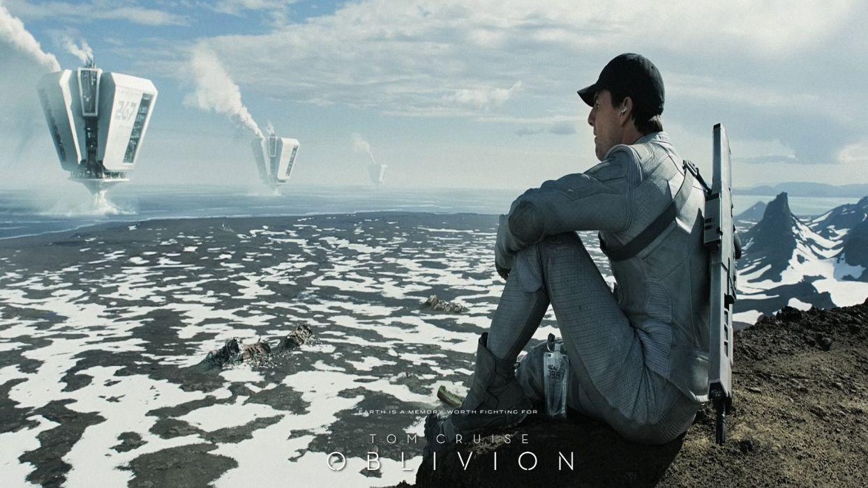 Tom Cruise Oblivion - movie wallpaper