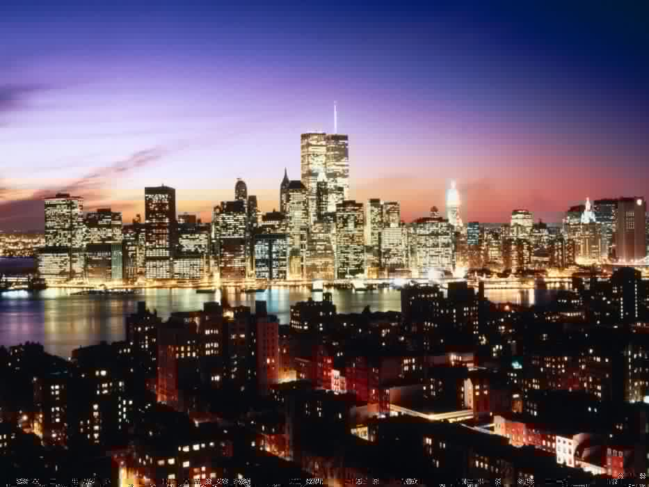 water cityscapes lights urban New York City wallpaper