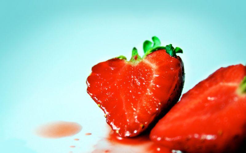 fruits food strawberries wallpaper