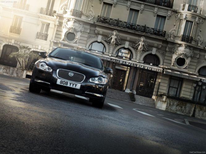 black cars Jaguar XF wallpaper