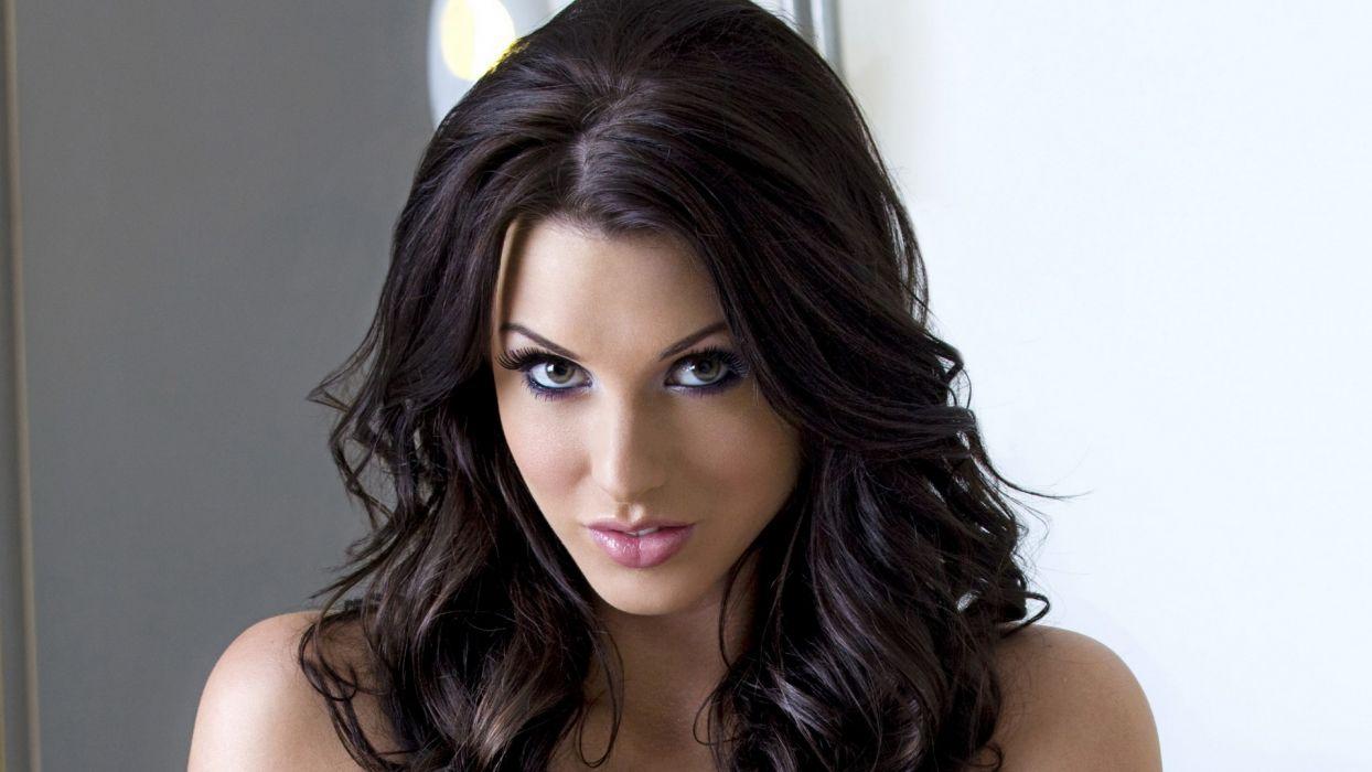 women models Alice Goodwin faces black hair wallpaper