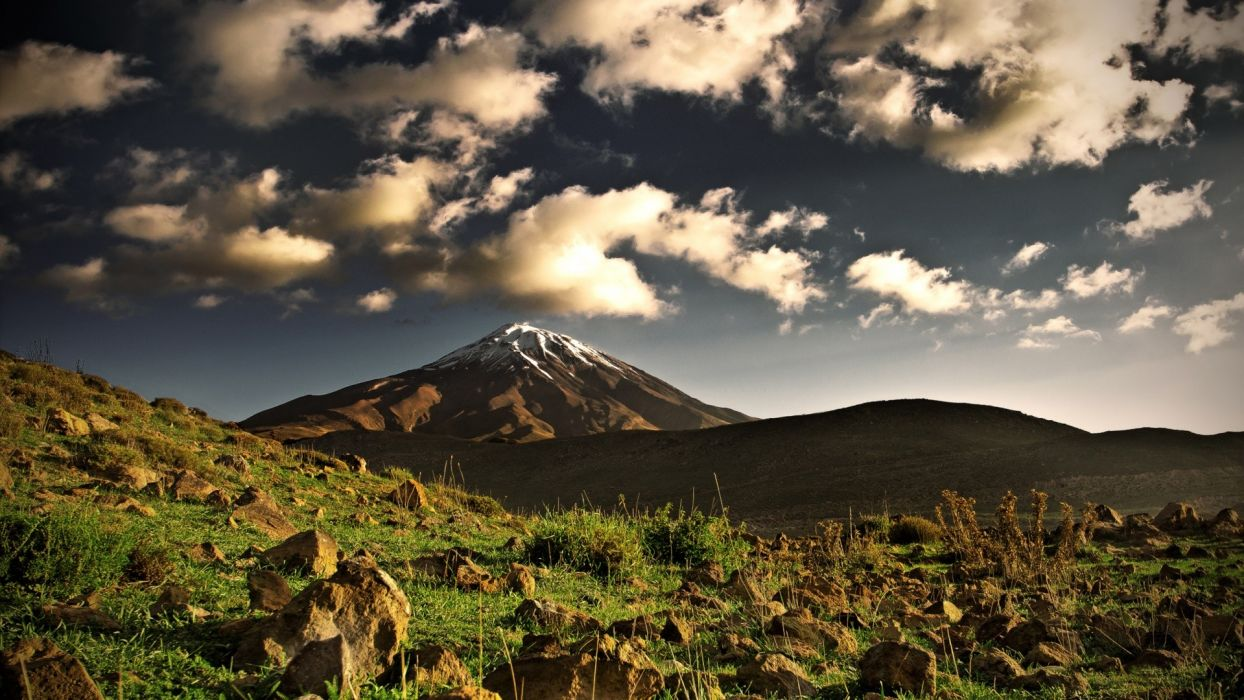 mountains clouds landscapes skylines Mount Kilimanjaro wallpaper
