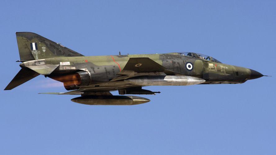 aircraft war military F-4 Phantom II air force skyscapes wallpaper