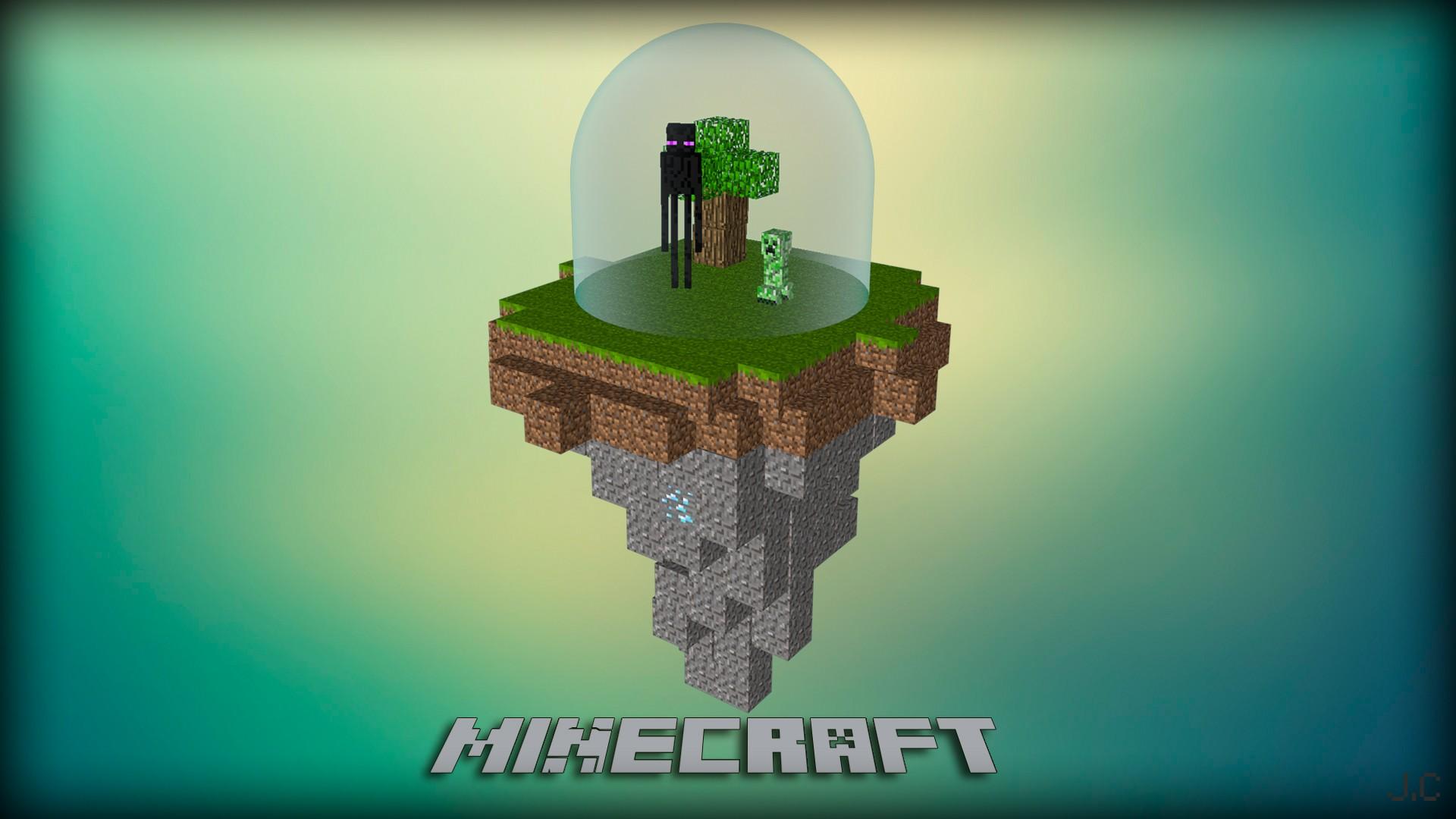 Video games Creeper Minecraft cinema 4d Enderman photomanipulation wallpaper | 1920x1080 | 63671 | WallpaperUP