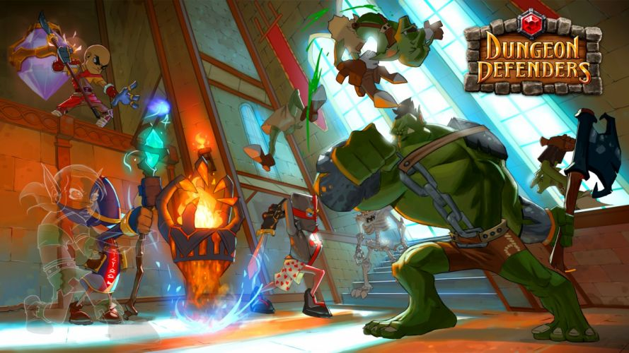 video games tower knights defender wizards MMORPG adventure orc Dungeon Defenders wallpaper