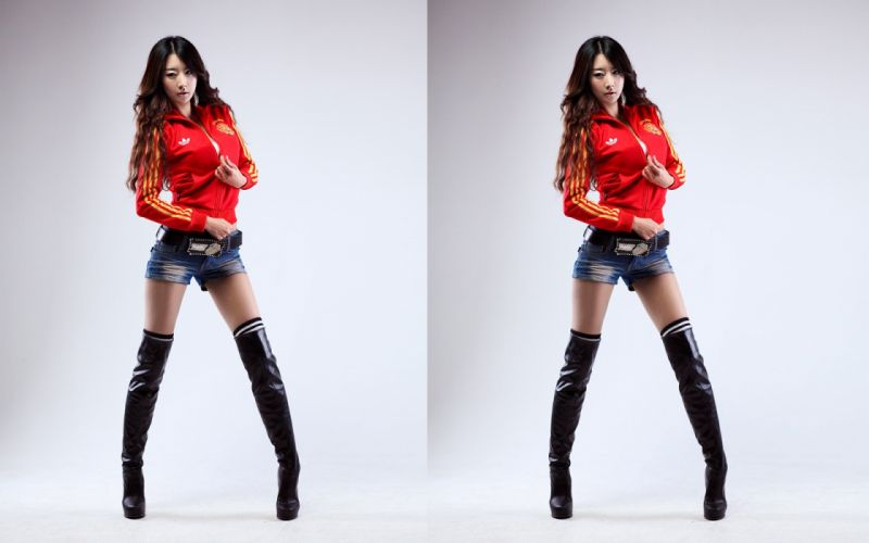 women Sun models Asians Korean shorts parks wallpaper