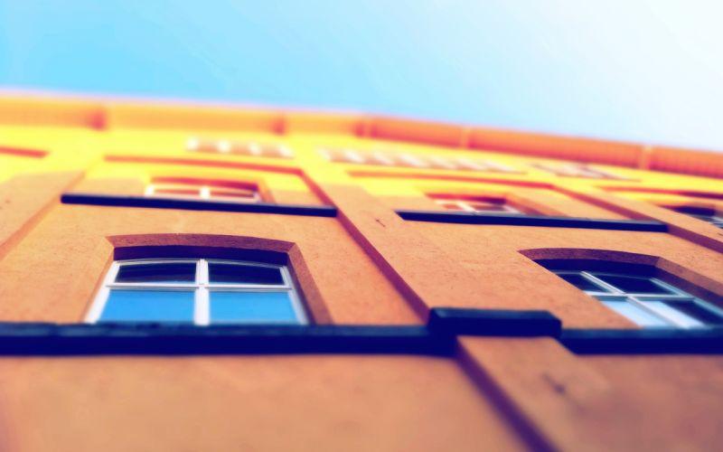window buildings wallpaper