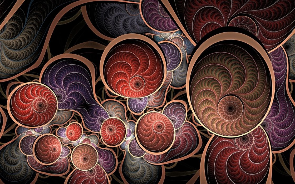 abstraction 3d background fractal      w wallpaper
