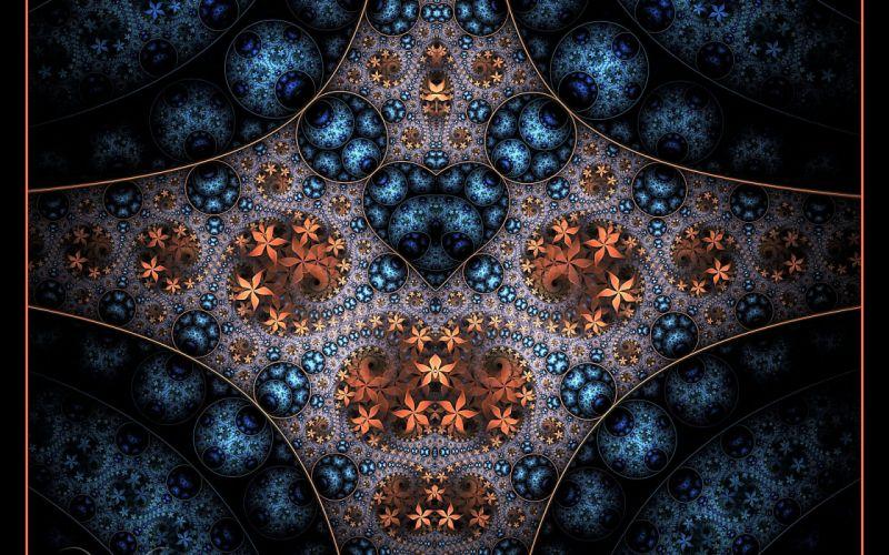 abstraction fractal 3d d wallpaper