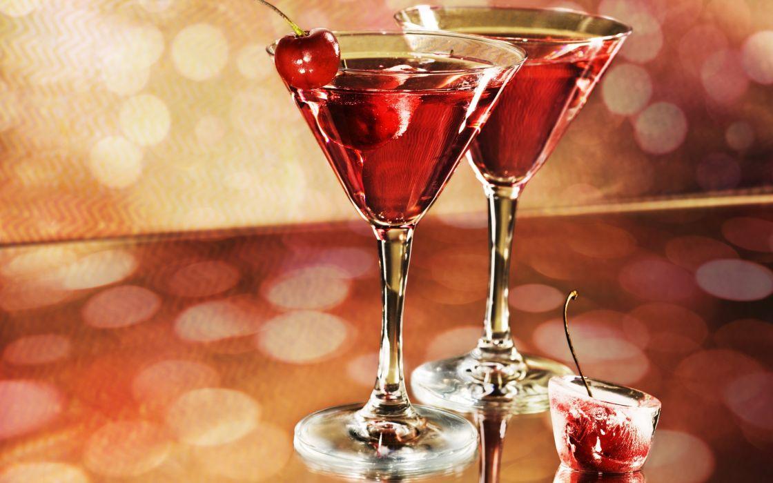 Alcohol Glass Cherry wallpaper