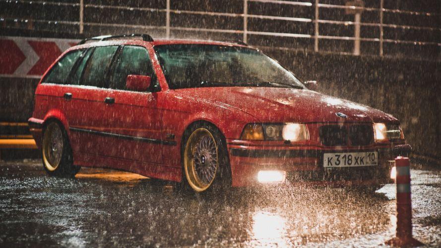 BMW Rain Lights drops tuning wallpaper