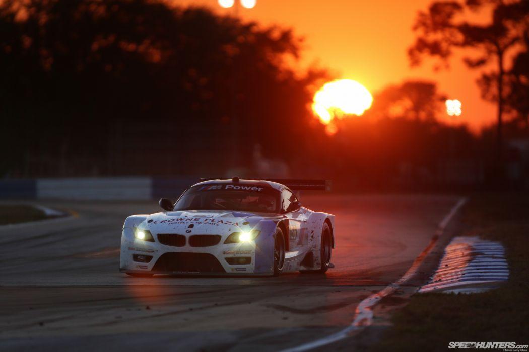 BMW Z4 Race Car Race Track Sunset wallpaper