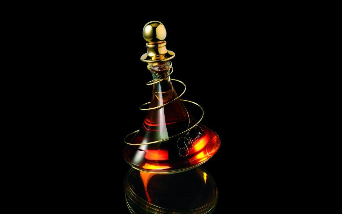 Bottle Black Alcohol wallpaper