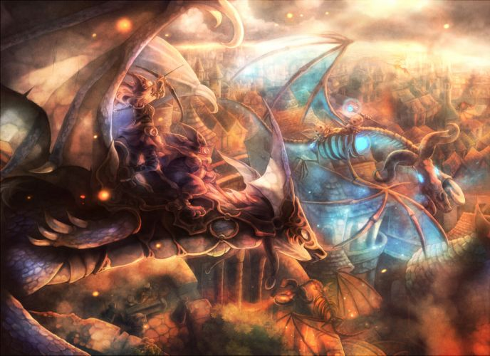 bow weapon dragon goggles original sui (petit comet) weapon wings fantasy wallpaper