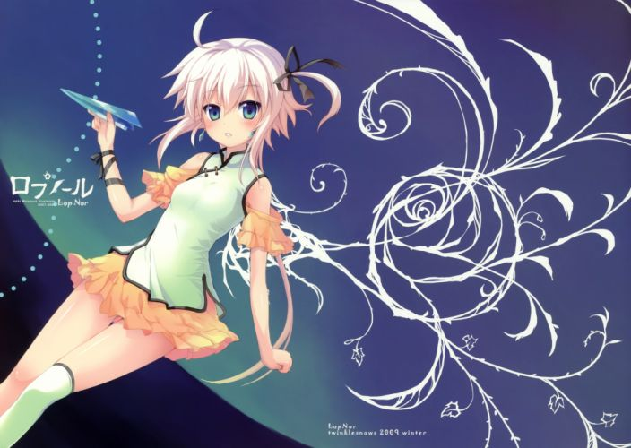 chinese dress minamura halki original short hair skirt thighhighs white hair wallpaper