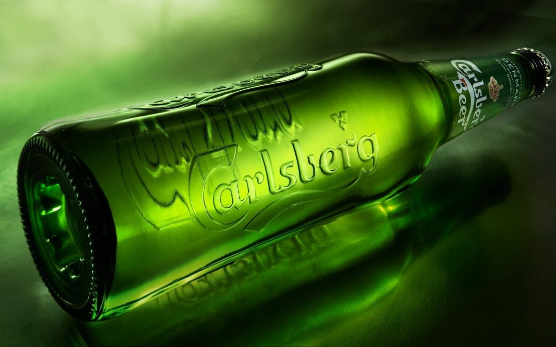 Carlsberg Beer Alcohol Bottle Green wallpaper