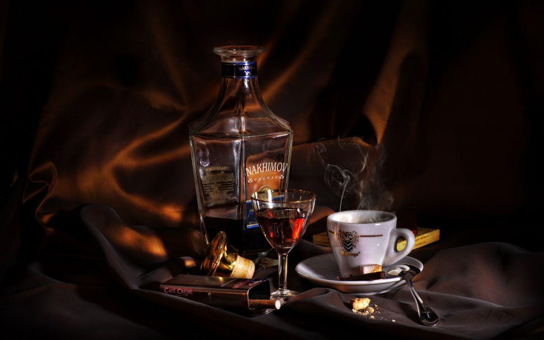 Cognac Alcohol Coffee Cigar Wallpaper