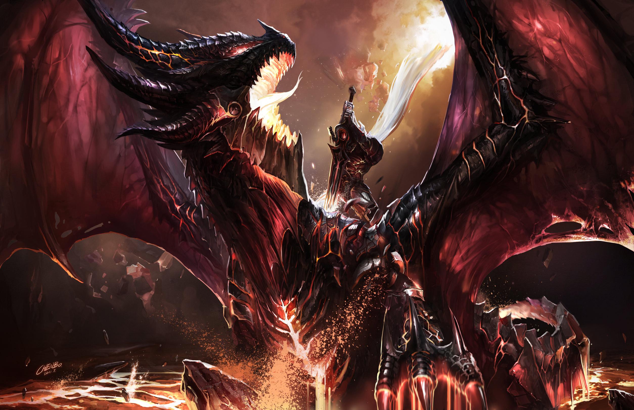 Dragon Warrior Sword World Of Warcraft WOW Fantasy Wallpaper