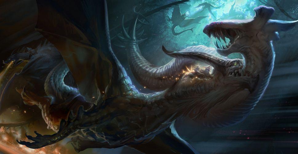 Dragons Battles Fantasy wallpaper