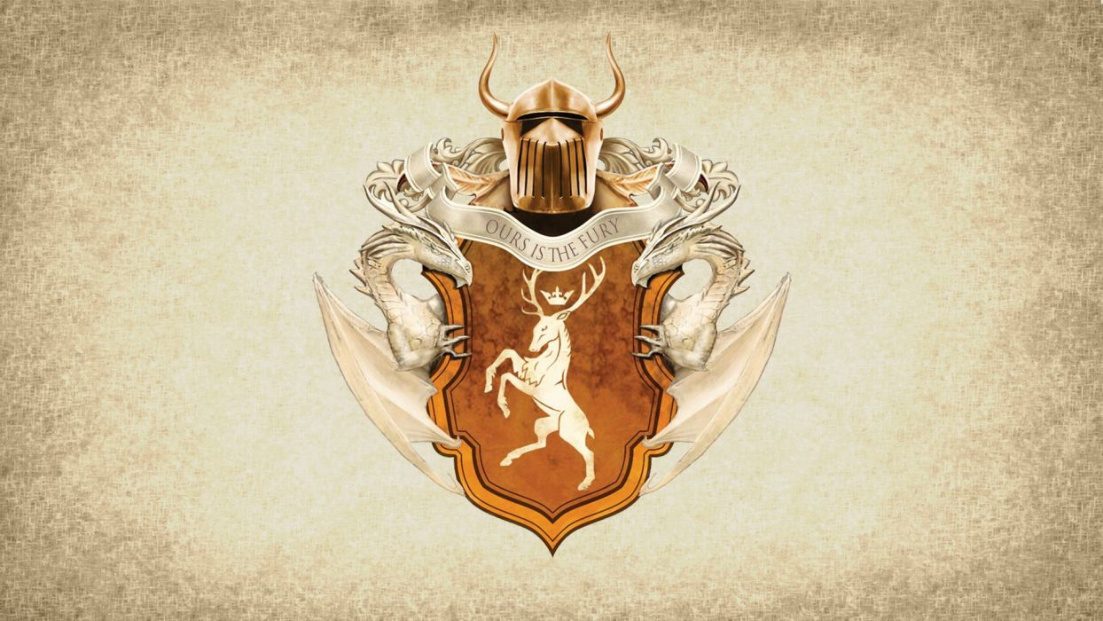 Game of Thrones Song of Ice and Fire Baratheon Dragon wallpaper