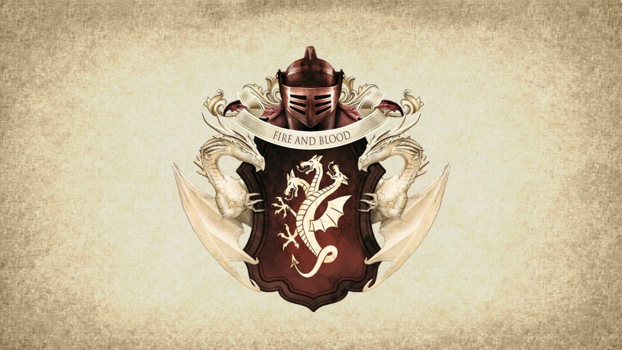 Game of Thrones Song of Ice and Fire Targaryen Dragon wallpaper